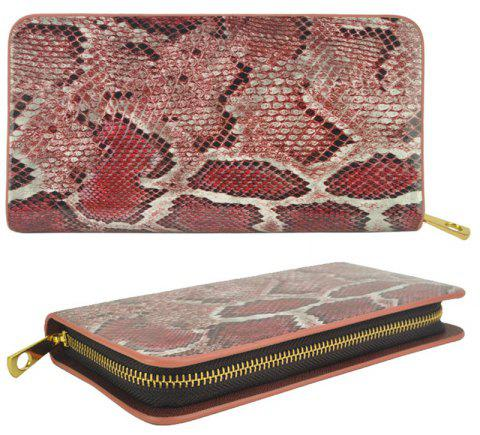 Women's Purse Serpentine Pattern Elegant Classy Versatile All Match Faddish Purse - RED