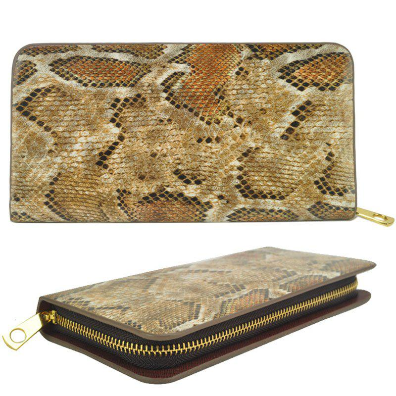 Women's Purse Serpentine Pattern Elegant Classy Versatile All Match Faddish Purse - BROWN