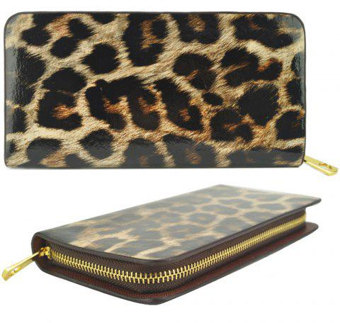 Femmes Purse Leopard Color Block Sexy Versatile tous les match sac à main à la mode - Café