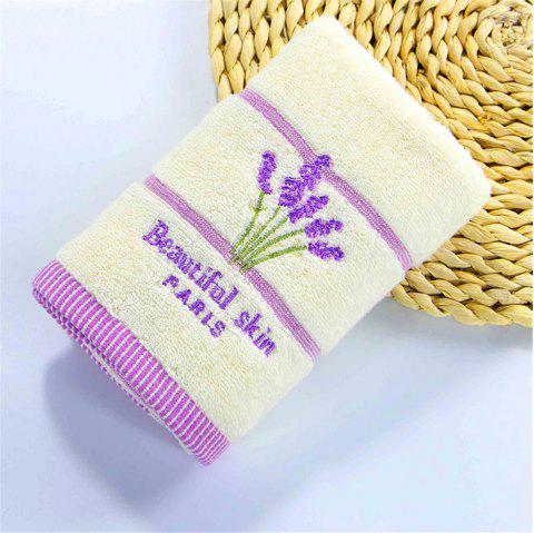 Muchun Tissage Lavande Motif Doux Nature Coton Rectangle Douche Serviette de Bain - Beige