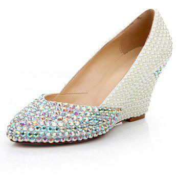 2018 New Pearl Color Drills Chaussures simples - Blanc Perle 39