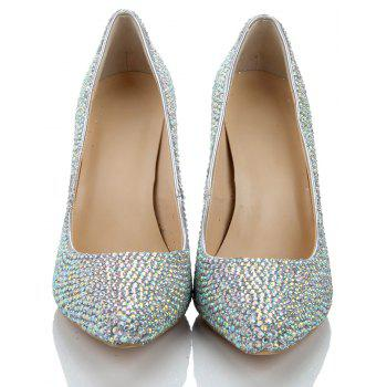 2018 New Colorful Drill Tip Sweet Party chaussures à talons hauts - COULEUR 36