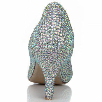 2018 Couleur Drills High Heel Pointed Sweet Femmes Chaussures - COULEUR 36