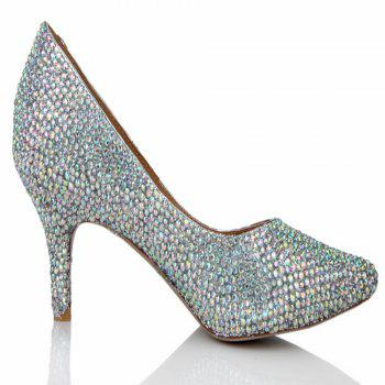 2018  Color Drills High Heel Pointed Sweet Women Shoes - COLOR 37