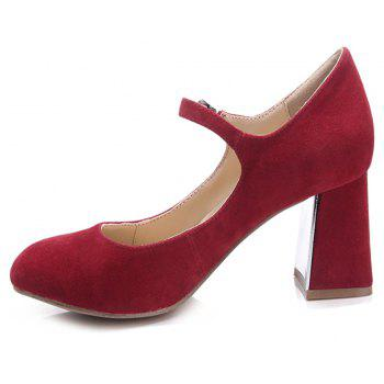 2018 New Fashion Red Suede Ladies High Heels - RED 41