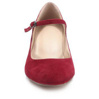 2018 New Fashion Red Suede Ladies High Heels - RED 39