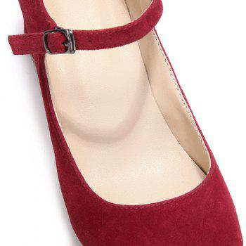 2018 New Fashion Red Suede Ladies High Heels - RED 36