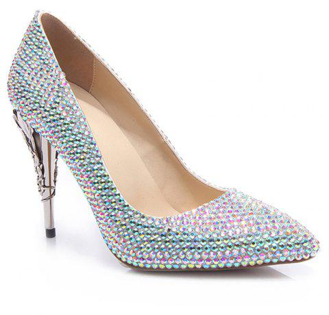 2018 New Colorful Fashion Temperament Pointed High-Heeled Shoes - COLOR 38