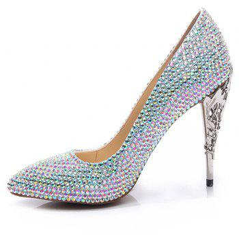 2018 New Colorful Fashion Temperament Pointed High-Heeled Shoes - COLOR 41