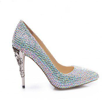 2018 New Colorful Fashion Temperament Pointed High-Heeled Shoes - COLOR 35
