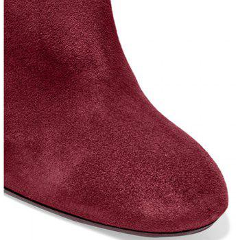 2018 New Fashion Wine Red High Boots - WINE RED 35