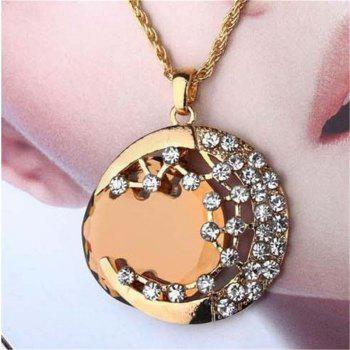 Leisure Sweet Lady Artificial Jewel Pendant Necklace Sweater Chain - GOLDEN