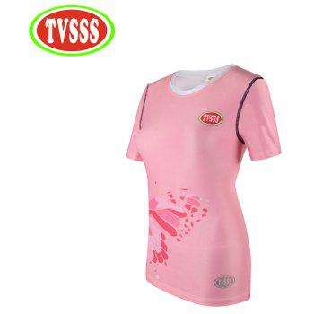 TVSSS Women Skinny Sweatshirt for Running Jogging Yoga Sports T-Shirt - PINK M