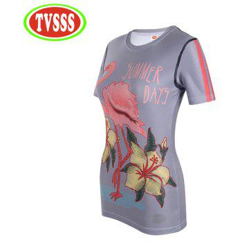 TVSSS Women Cycling Jersey Summer Tight T-Shirt Sportswear - TAHITI M