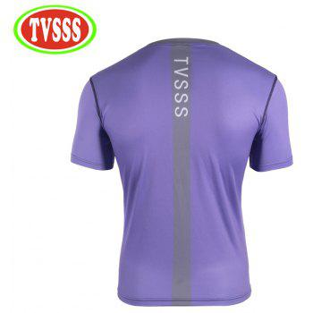 TVSSS Men Cycling Jerseys Summer Short-Sleeve T-Shirt Purple Sports And Leisure Quick-Drying Bicycle Clothes - PURPLE 2XL
