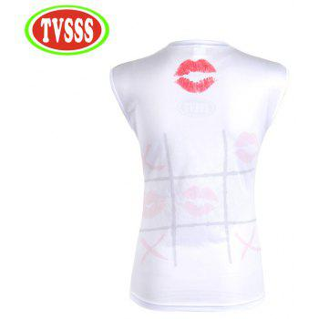 TVSSS MTB Wonem Cycling Personality Kiss Pattern Tights Bike Summer  Sleeveless Quick-Drying Bicycle Clothes 40b56077d