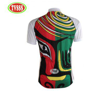 TVSSS Summer Men Chinese Facial Design Manches Courtes Sportswear - Blanc 2XL