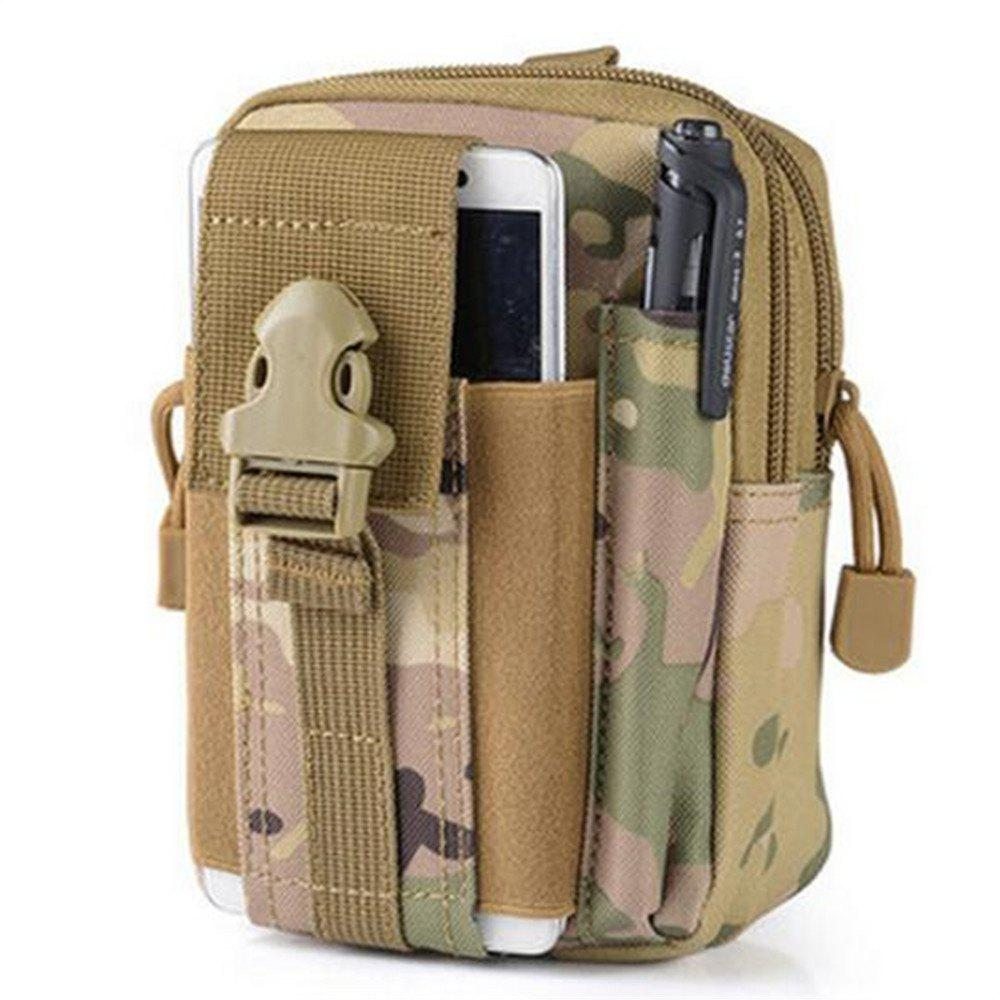 Tactical Pouch Belt Military Hiking Camp Phone Pocket Waist Fanny Bags - DESERT CAMOUFLAGE