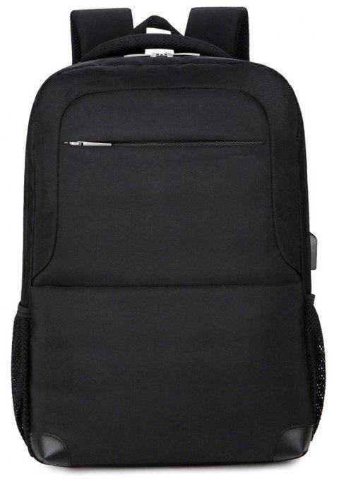 Nouveau sac à dos double Multi Layer Men - Noir
