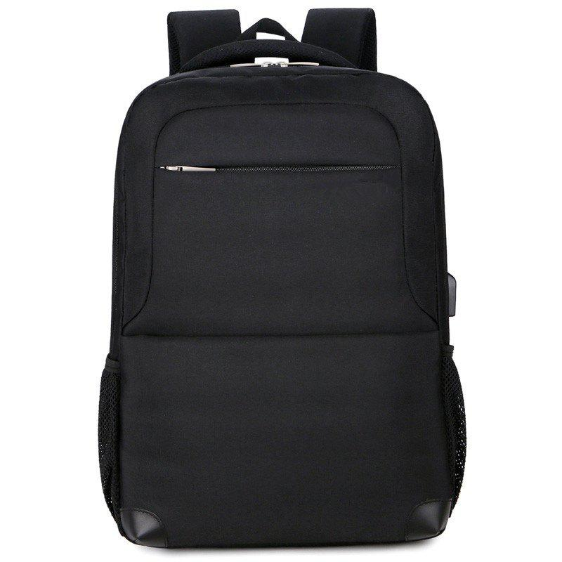 New Multi Layer Men's Double Backpack - BLACK