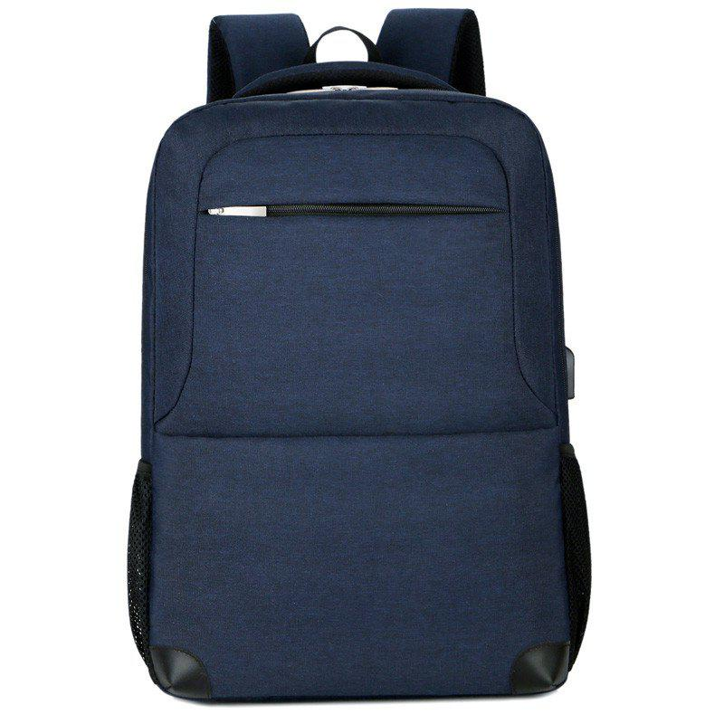 New Multi Layer Men's Double Backpack - BLUE
