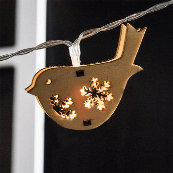 Wood Golden birds String Lights Fairy LED Home Decor Light Home Garden of Battery Powered 1.65M 10 LED - WARM WHITE