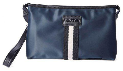 HAUTTON Men Clutch Bag Zipper Wallet Purse Checkbook Document Passpsort Phone Handbag - BLUE