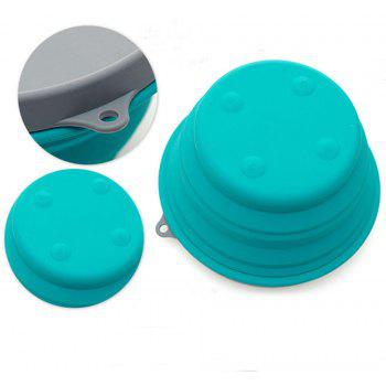 Silicone Collapsible Bowl Cup for Outdoor Camping Hiking Travel Folding Bowls - BLUE