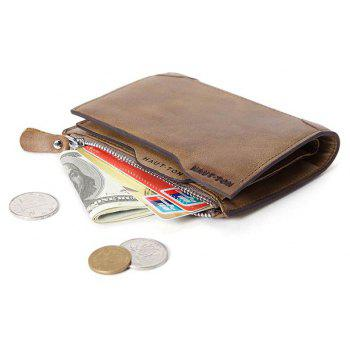 HAUTTON Genuine Leather Trifold Wallets for Men Credit Card Protector - KHAKI