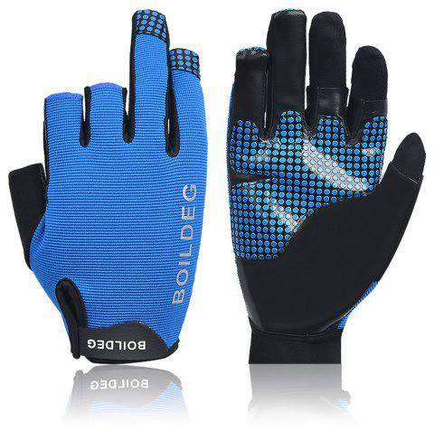 Boodun Ulra-Fiber NON-Slip Fishing Gloves - BLUE M