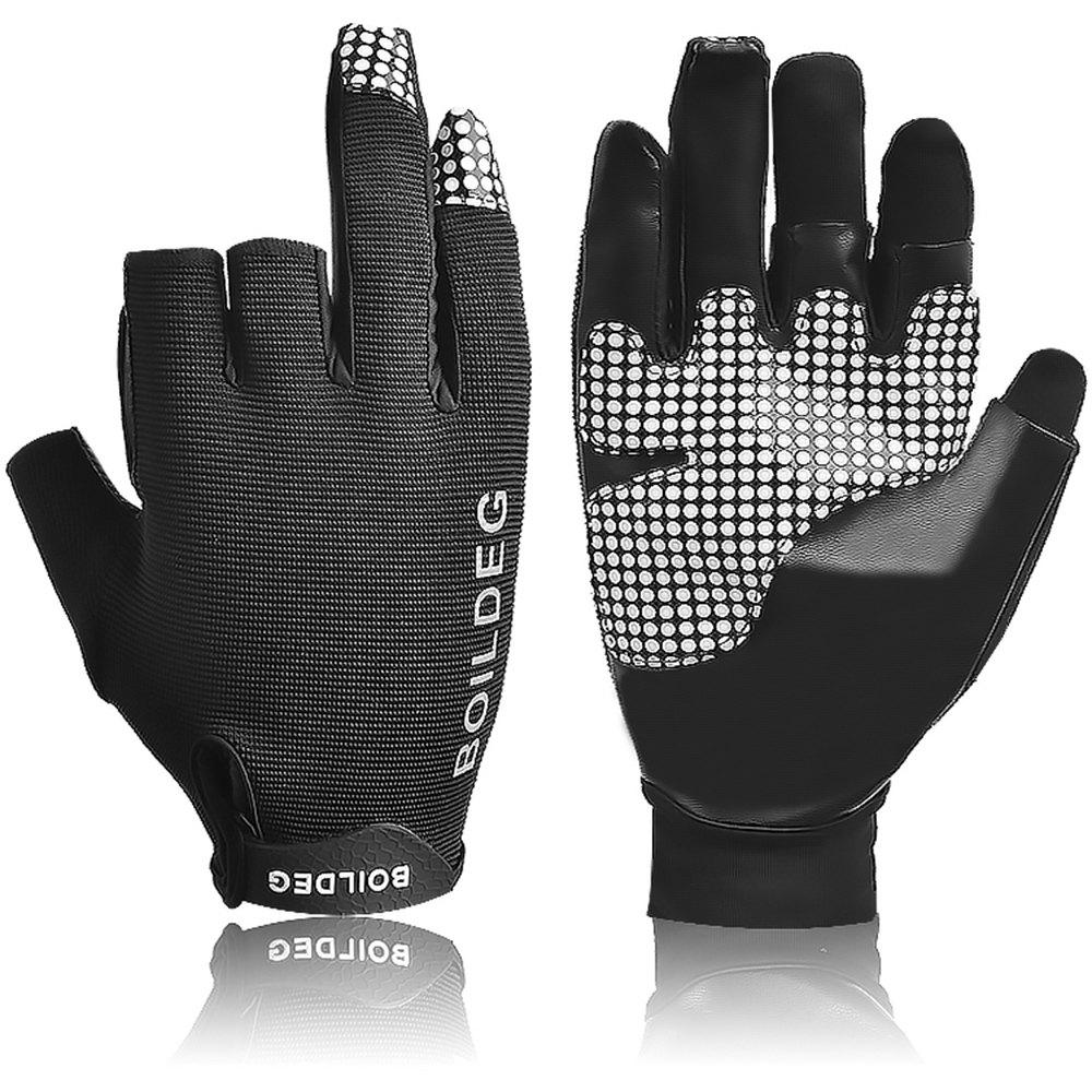 Boodun Ulra-Fiber NON-Slip Fishing Gloves - BLACK M