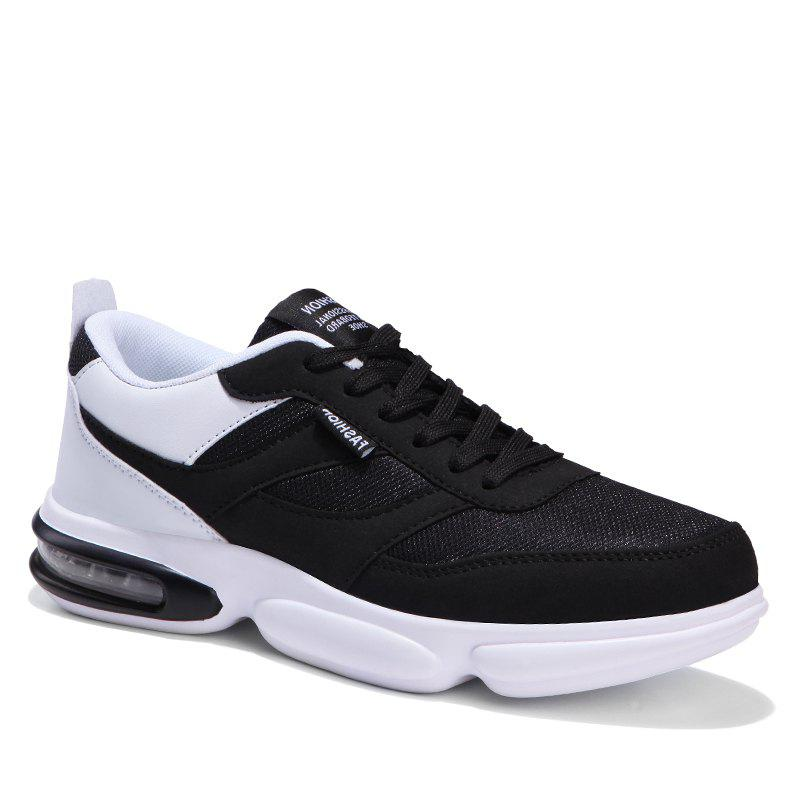 Zeacava Men S Spring Models Fashion Casual Sports Running Shoes Black White 40