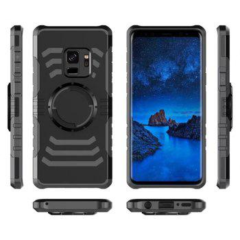 Cover Case  for Samsung Galaxy S9 Plus Your Phone Through The Protective Screen Outdoor Sports - BLACK
