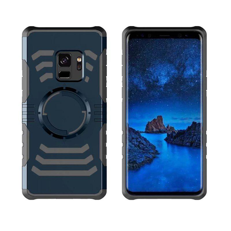 Cover Case  for Samsung Galaxy S9 Plus Your Phone Through The Protective Screen Outdoor Sports - CADETBLUE
