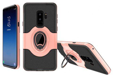 Cover Case for Samsung Galaxy S9 With Shock Absorption Dual Design Phone Ring Holder Anti-scratch Protective - PINK