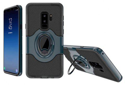 Cover Case for Samsung Galaxy S9 Plus With Shock Absorption Dual Design Phone Ring Holder Anti-scratch Protective - CADETBLUE