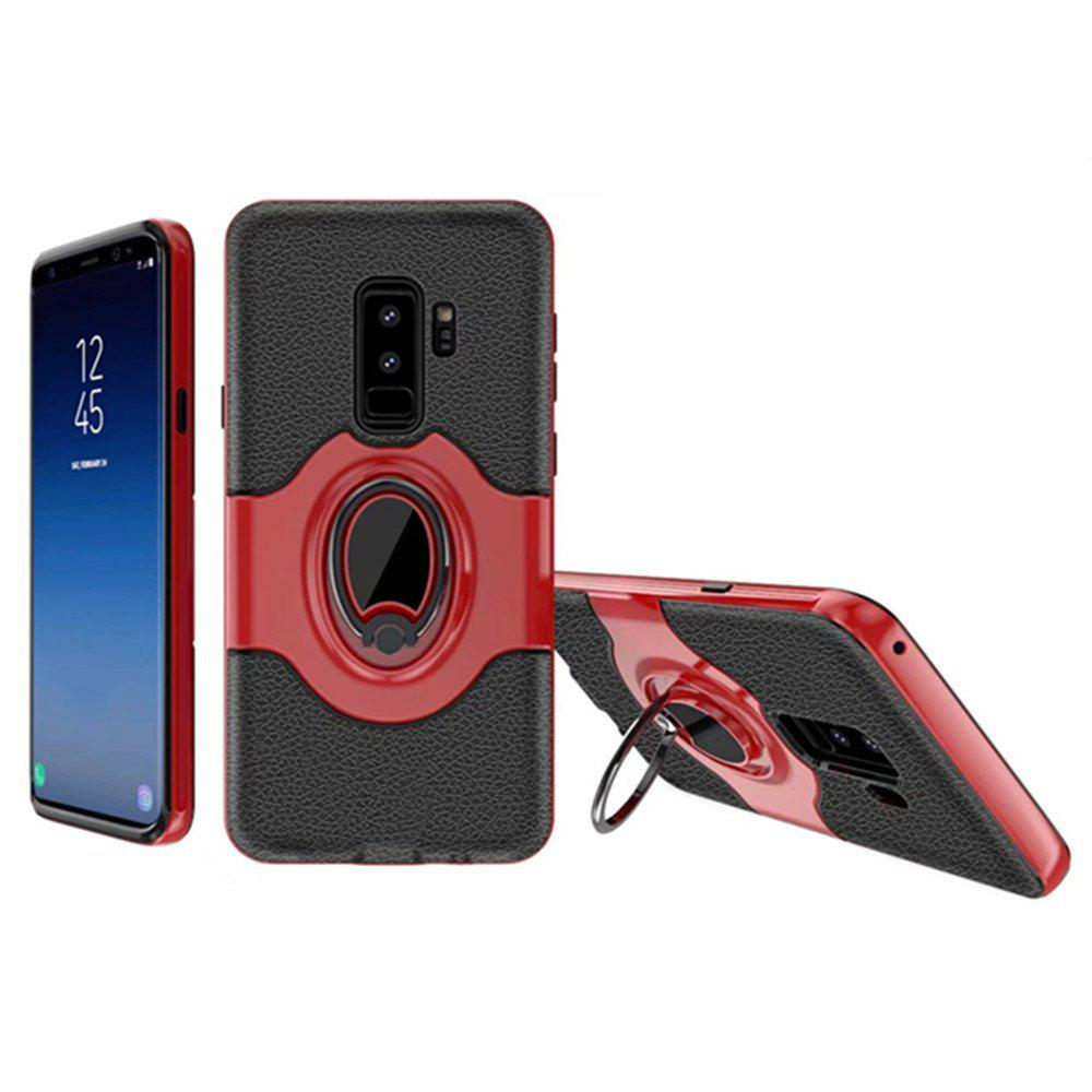 Cover Case for Samsung Galaxy S9 Plus With Shock Absorption Dual Design Phone Ring Holder Anti-scratch Protective - RED