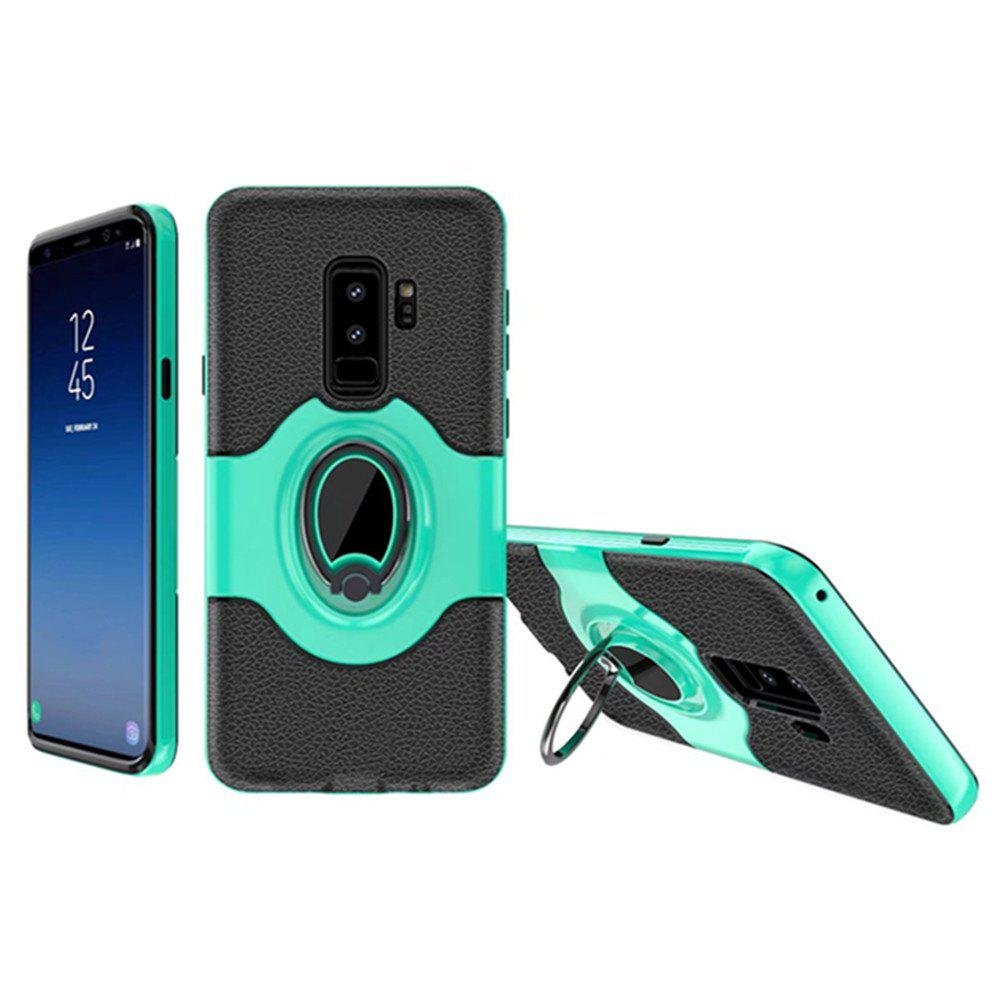 Cover Case for Samsung Galaxy S9 Plus With Shock Absorption Dual Design Phone Ring Holder Anti-scratch Protective - GREEN