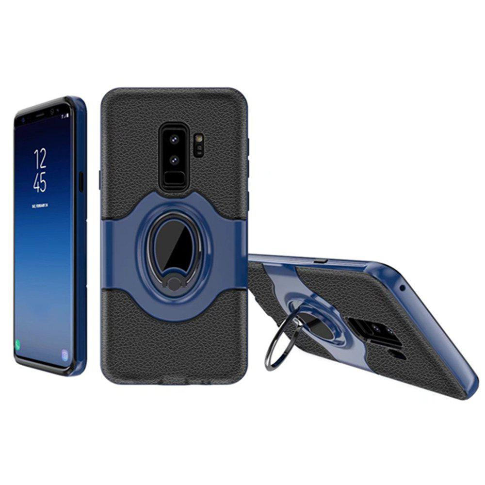 Cover Case for Samsung Galaxy S9 Plus With Shock Absorption Dual Design Phone Ring Holder Anti-scratch Protective - CERULEAN