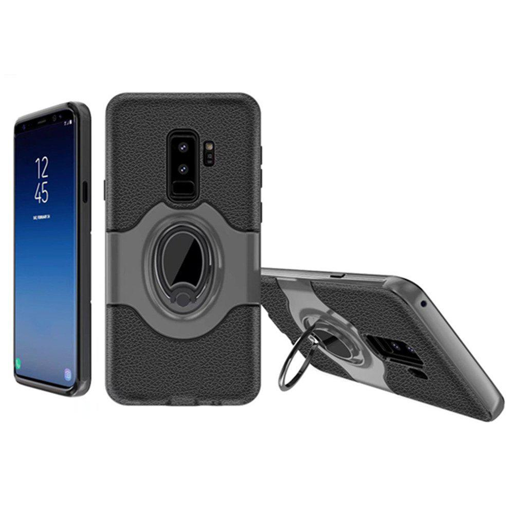 Cover Case for Samsung Galaxy S9 Plus With Shock Absorption Dual Design Phone Ring Holder Anti-scratch Protective - GRAY