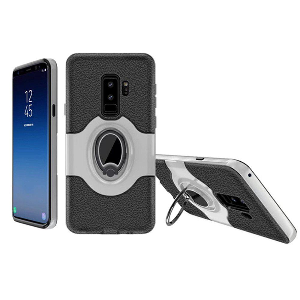 Cover Case for Samsung Galaxy S9 Plus With Shock Absorption Dual Design Phone Ring Holder Anti-scratch Protective - SILVER