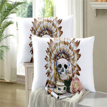 Painted Pattern Tribal Skeleton Chieftain Series Bedding Set Three or Four Pieces AS17 - COLORMIX TWIN
