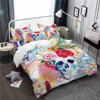 Painted Pattern Tribal Skeleton Chieftain Series Bedding Set Three or Four Pieces AS17 - COLORMIX QUEEN