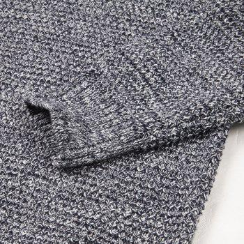 Long Sleeved Round Collar Warm Leisure Sweater - GRAY M