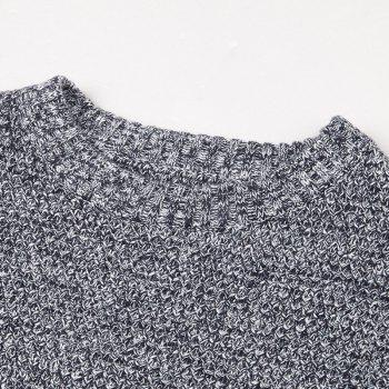 Long Sleeved Round Collar Warm Leisure Sweater - GRAY 2XL