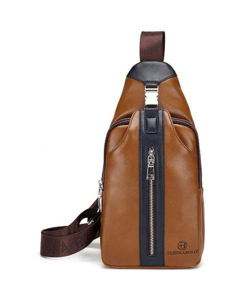Male New Casual Fashion Messenger Bag - BROWN