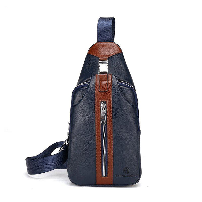 Male New Casual Fashion Messenger Bag - BLUE