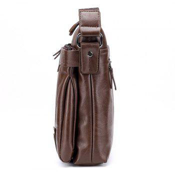 New Casual Fashion Diagonal Man Bag - LIGHT BROWN