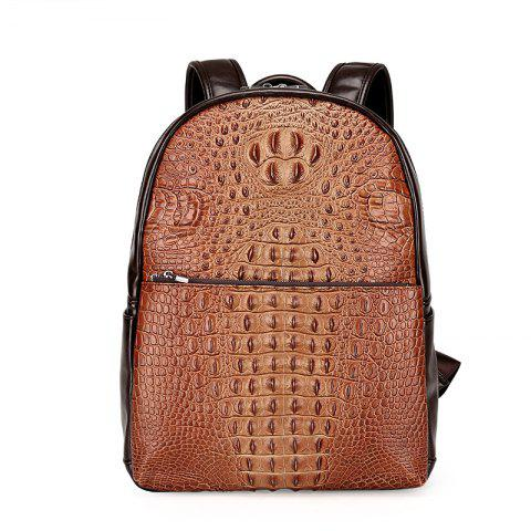 New Casual Wild Backpack Men - BROWN