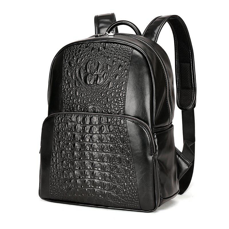 New Wild Fashion Casual Backpack Men - BLACK